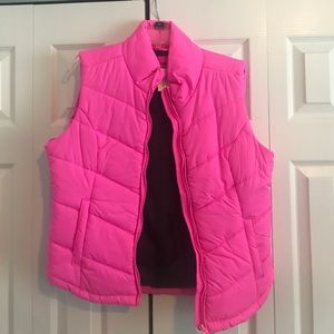 Aeropostale puffer vest hot pink XL NWT